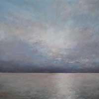 Silent Sea - Oil on Board. 60x60cm