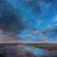 Retreating Tide - Oil on Board. 60 x 60 cm.