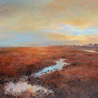 Saltmarsh -  Oil on Board. 40 x 40 cm.