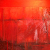 Oriental Red - Oil on canvas. 91 x 91 cm.